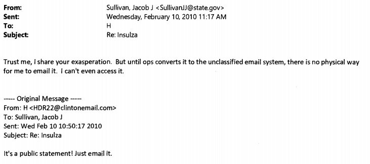 Hillary Clinton Jake Sullivan email Daily Caller