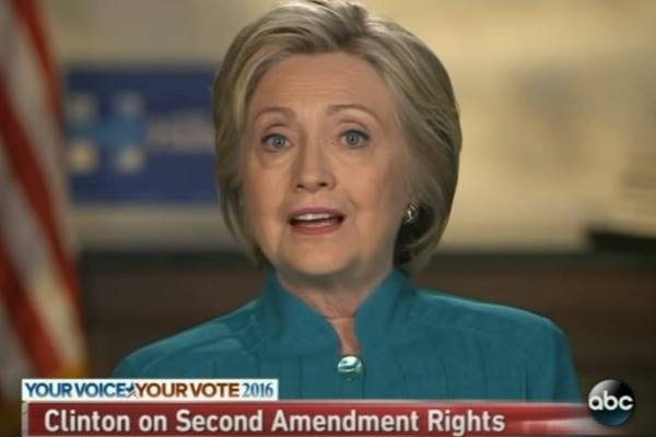 Hillary on 2nd Amendment