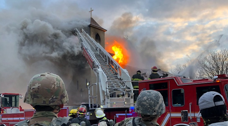Massive Fire at Church in Northeast Minneapolis 10 Minutes From George Floyd Protest Downtown (VIDEO)