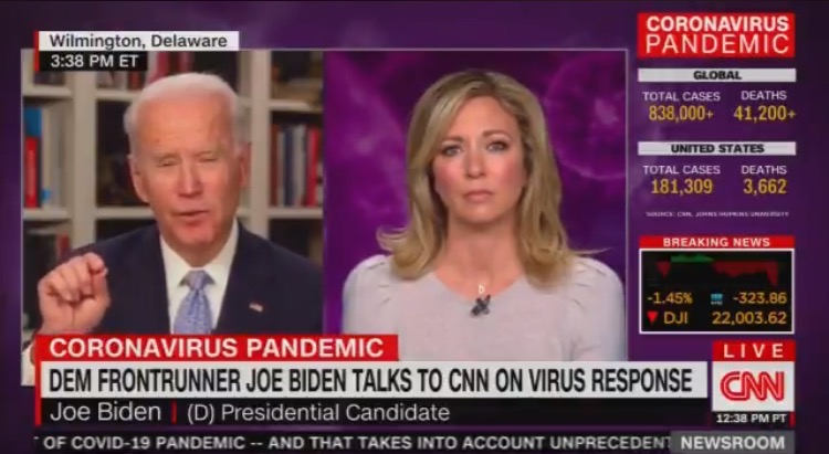 Joe Biden Stumbles During Interview, Says We Have to do 'Three Things Quickly' to Combat Coronavirus, But Can Only Remember Two (VIDEO)