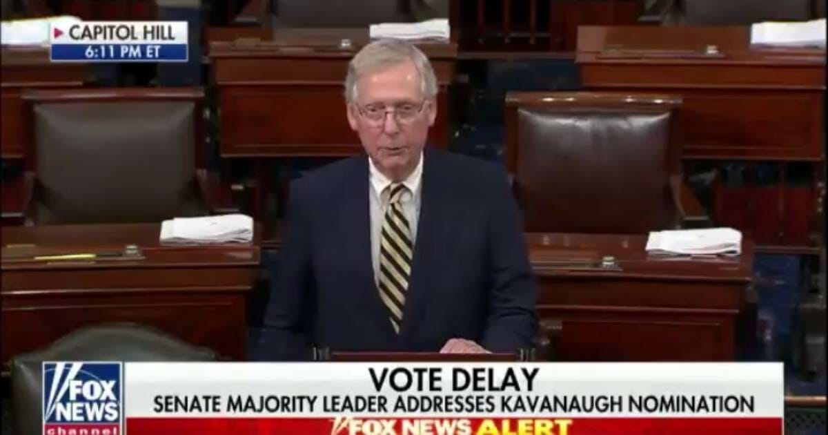 McConnell Announces From Senate Floor 'All 51 Republican Senators Support Motion to Proceed to Kavanaugh Nomination' (VIDEO)