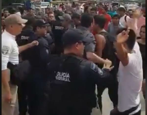 CARAVAN CHAOS: Honduran Migrants Face Off With Mexican Police – Pueblo Sin Fronteras Organizer Arrested (VIDEO)