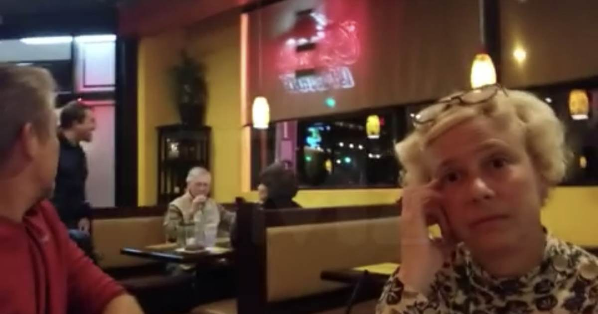 ANGRY DEM MOB Confronts McConnell in Restaurant  Man Slam Fists on Table  Then Throws McConnells Food Out the Door VIDEO