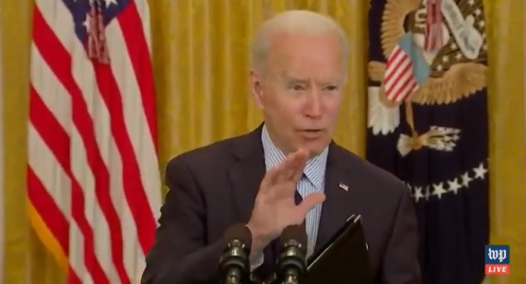 """Joe Biden LAUGHS as April Jobs Report Show Worst Miss Since 1998: """"This Month's Job Numbers Show We're on the Right Track"""" (VIDEO)"""