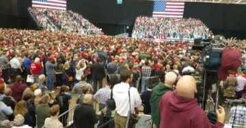 "RED WAVE: Crowd at Trump Rally in Cleveland Today is ""Much Bigger"" Than 2016 Trump Rally at Same Venue! (VIDEO)"