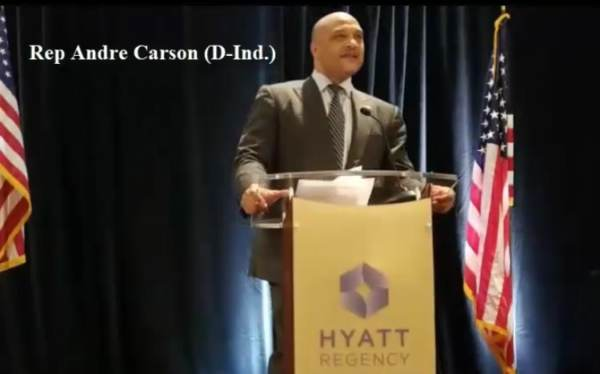 photo image Muslim Rep. André Carson Envisions 30-35 Muslims in Congress with a Muslim President by 2030 at CAIR Reception (VIDEO)