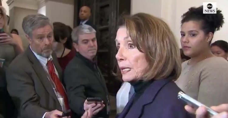 PELOSI CONFRONTED! Stutters Through Response to Reporters! – Repeats Crackpot Claim That Trump Endangered Her Life (VIDEO)