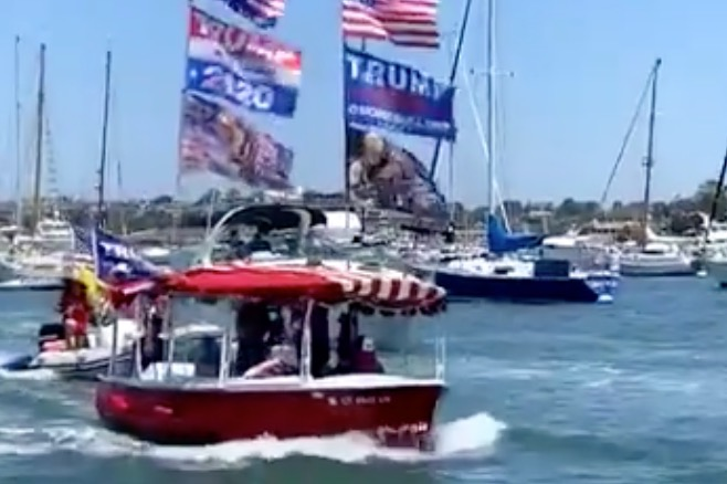 Take That, Newsom! Newport Beach Celebrates 4th of July with Beach Parties and Trump Boat Parade (VIDEOS)