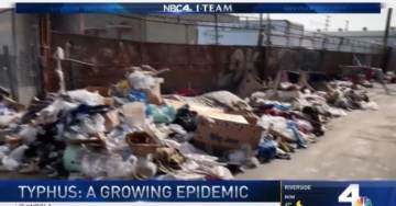 Typhus Epidemic Spreads Across Liberal Utopia of Los Angeles Due to Mountains of Trash, Growing Homeless Population