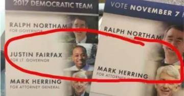 Flashback: Ralph Northam Campaign Flyers Omitted His Black Running Mate