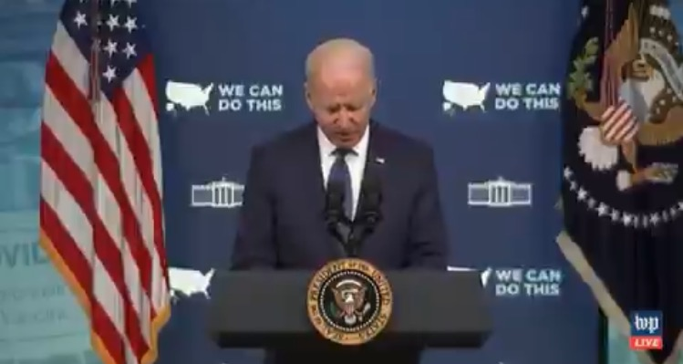 Biden AGAIN has to refer to his notes when asked about the latest ransomware attack against hundreds of American companies (VIDEO)