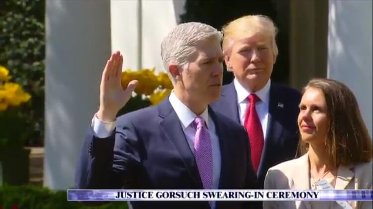 Judge Neil Gorsuch Takes Oath to Join the Supreme Court (VIDEO)