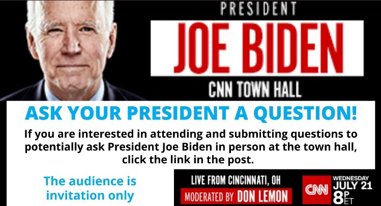CNN Demands to Know Vaccine Status in Order to Submit Questions to Ask Biden at Next Week's Town Hall in Cincinnati