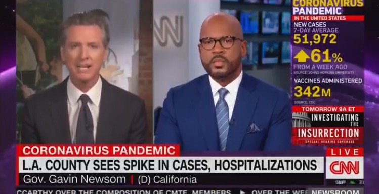 CA Governor Gavin Newsom Compares Unvaccinated People to Murderous Drunk Drivers (VIDEO)