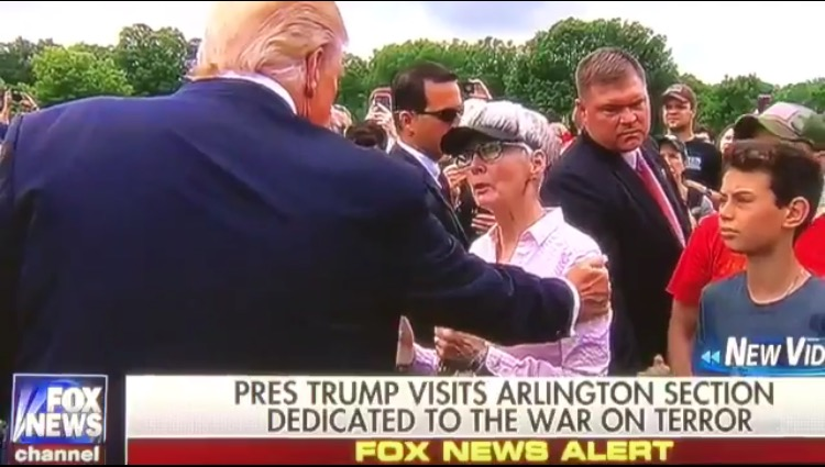 Mother of Fallen Marine Overcome With Emotion With POTUS Trump's Surprise Visit at Arlington Cemetery (VIDEO)