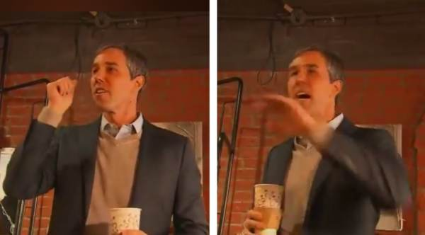 """photo image Trump Mocks 'Beto' O'Rourke's Hand Movements, """"Is He Crazy Or Is That Just the Way He Acts?"""" (VIDEO)"""