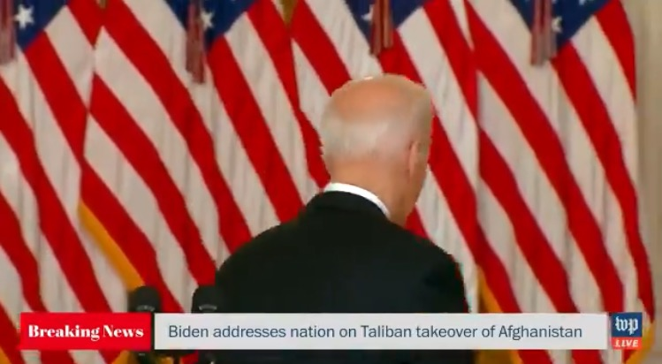 Biden Refuses to Take Questions From Reporters After Blaming Trump For His Afghanistan Disaster - fampharmapro