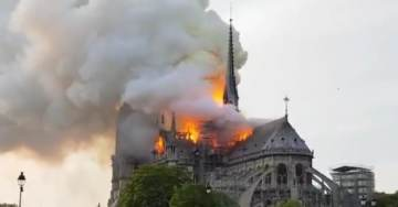 BREAKING: Notre Dame Cathedral in Paris on Fire – Iconic Spire COLLAPSES (VIDEOS)