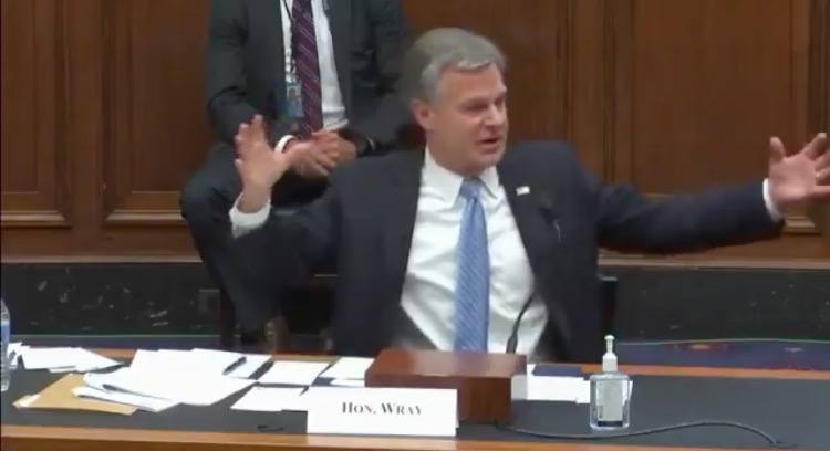 "Wray Claims ""White Supremacists"" Make Up the Largest Share of Racially Motivated Terrorists in the US as BLM Burns Businesses to the Ground (VIDEO)"
