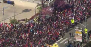 Thousands March in Los Angeles to Commemorate 104th Anniversary of Armenian Genocide (VIDEO)