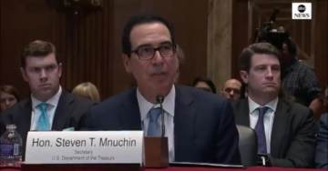 Treasury Secretary Steve Mnuchin Holds His Ground – Smacks Down Democrat Lawmaker Gunning For Trump's Tax Returns (VIDEO)