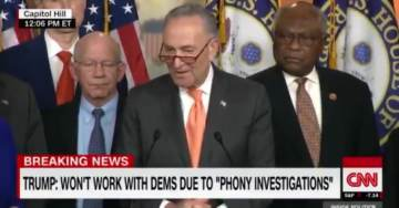 Schumer Left Slack-Jawed After Trump Abruptly Walks Out of Meeting 'What Happened in the White House Would Make Your Jaw Drop' (VIDEO)