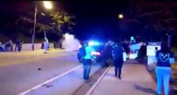 BREAKING – Mayhem Breaks Out at Georgia Tech After Armed Student Shot – Rioters Burn Police Car  (VIDEO)