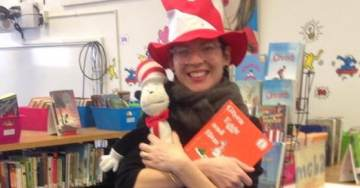 Oops! Nasty Librarian Who Declined Melania's 'Racist' Seuss Books Seen Pictured in 'Cat in the Hat' Outfit 2 Yrs Ago