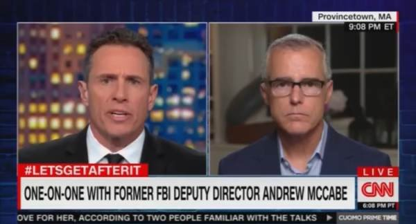 "photo image McCabe: Start Impeachment Proceedings Against President Trump ""Immediately"" (VIDEO)"