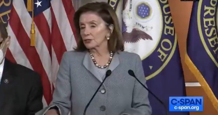 Pelosi Says 150,000 Americans Have Received Covid Vaccine - Then Breaks Her Own Mask Mandate (VIDEO)
