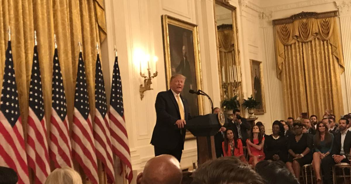 photo image Watch: Live Stream of President Trump Speech at White House Social Media Summit