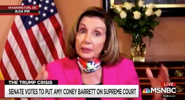 Pelosi Responds to Amy Coney Barrett SCOTUS Confirmation: 'Should We Expand the Court, Let's Take a Look and See…and Other Courts as Well' (thegatewaypundit.com)