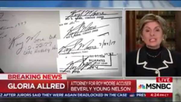 Crooked Attorney Gloria Allred Didn't Even Ask Her Client if She Saw Roy Moore Sign Her Yearbook! (VIDEO)