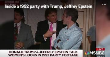 They Got Him This Time! Fake News Media Posts Video of Trump Talking to Epstein at a Party in 1992