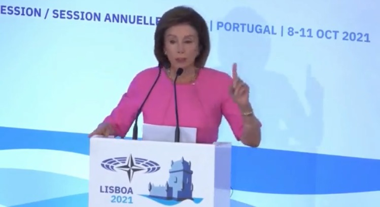 """Pelosi Says She Thinks """"A Lot"""" About What She Would do if She """"Ruled the World"""" During Remarks at NATO Parliamentary Assembly (VIDEO)"""
