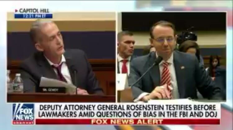 Trey Gowdy GOES OFF on Rosenstein About DOJ, FBI Corruption and Conflicts of Interest in Epic 6 MINUTE Rant (VIDEO)