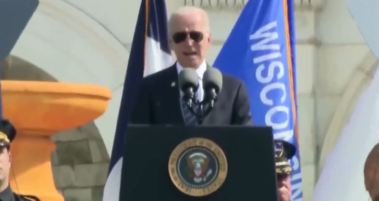 Biden Condemns January 6 Capitol Protest at Memorial for Fallen Law Enforcement Officers (VIDEO)