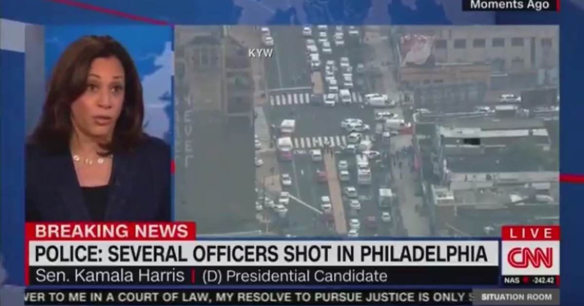 photo image Kamala Harris Suggests Her 2020 Gun Control Policies Would Have Stopped Philly Shooter — As Suspect is Shooting at…