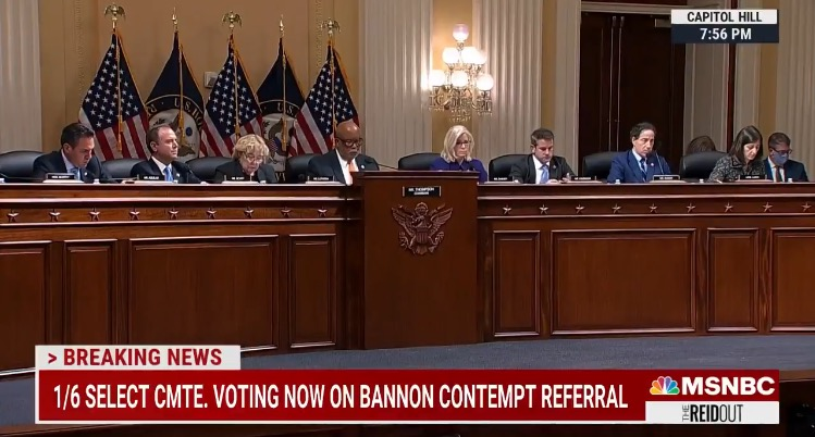 January 6 Committee Votes 9-0 to Refer Steve Bannon to DOJ to Face Criminal Contempt Charges (VIDEO)