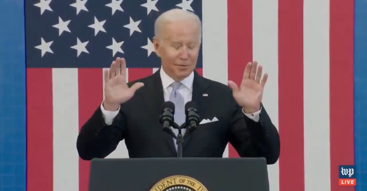 """Joe Biden Pitches His Build Back Better Agenda in Scranton: """"We Will Take, Literally, Millions of Automobiles off the Road. Off the Road"""" (VIDEO)"""