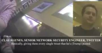 O'KEEFE STRIKES AGAIN: Undercover Video Reveals Twitter Willing to Give Trump's Private Messages to DOJ Without Warrant