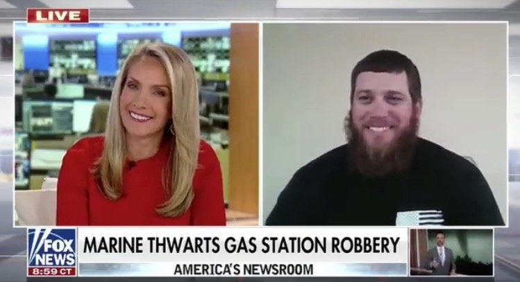 """LEGEND: Marine Who Thwarted Gas Station Armed Robbery Ends Interview with Fox News Saying, """"Epstein Didn't Kill Himself"""" (VIDEO)"""
