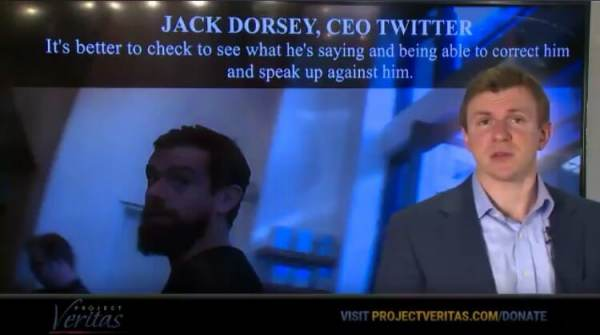 photo image James O'Keefe Taunts Twitter CEO as Next Target in Undercover Sting 'Jack Dorsey This Message is For You' (VIDEO)