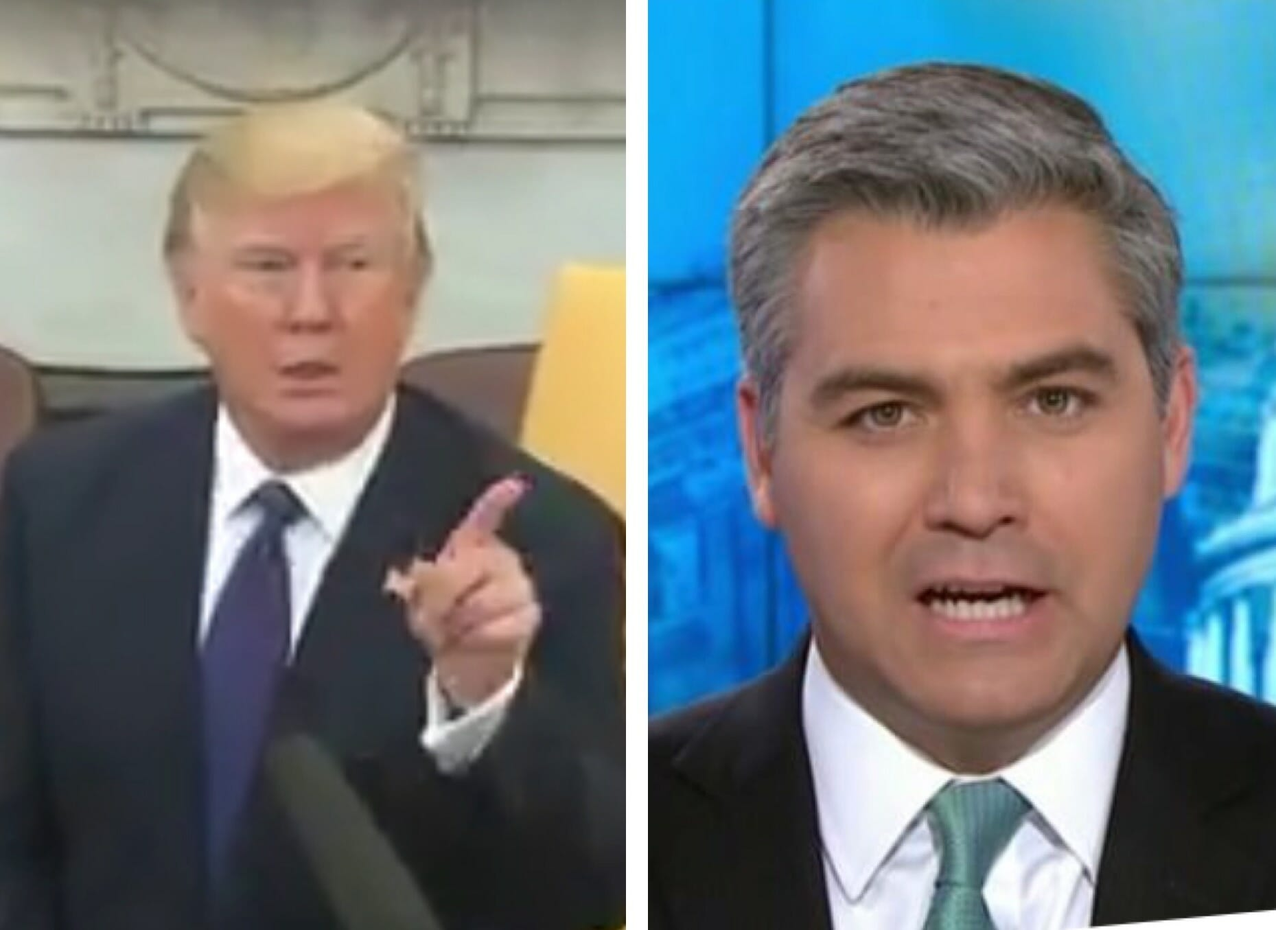 """POTUS Trump Tells CNN's Jim Acosta to get """"Out"""" of the Oval Office After His Latest Outburst (VIDEO)"""