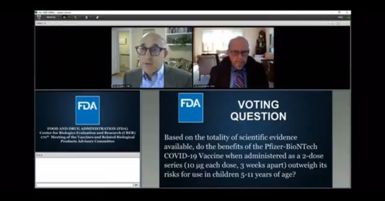 FDA Panel Approves Pfizer Covid Vax For Kids Ages 5-11, Concedes it Doesn't Know Long-Term Risks to Children (VIDEO)