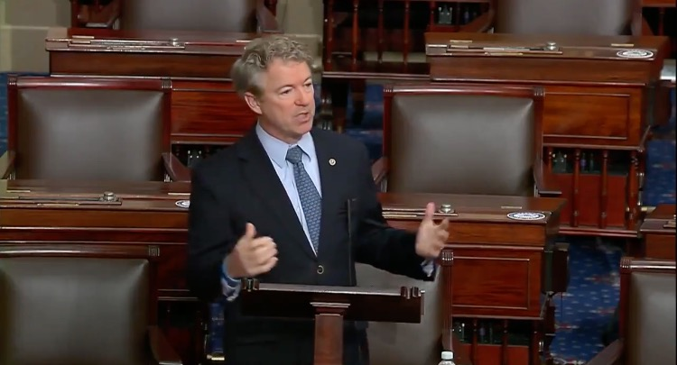 WATCH: Senator Rand Paul's Rant Over .3 Trillion Government Spending and Covid Relief Package Goes Viral