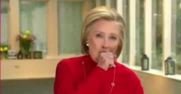 Sick Hillary Coughs a Lung Out as She Vows to 'Never Give Up' (VIDEO)