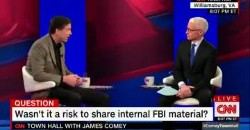 Comey Gets Triggered After Anderson Cooper Calls Him a Leaker Over and Over Again (VIDEO)