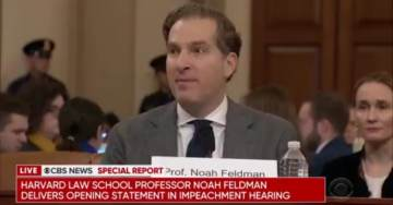 """Democrat Impeachment 'Witness' Noah Feldman Previously Claimed Sharia Law Superior, More """"Humane"""" Than Western Laws"""