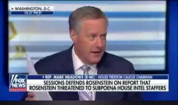 """photo image Mark Meadow RIPS AWOL Sessions For Defending Rosenstein: """"I'm Confident He Doesn't Know What He's Talking About"""" (VIDEO)"""